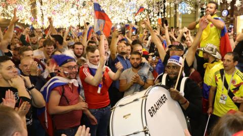 Football fans in Russia