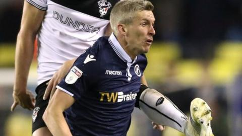 Steve Morison playing for Millwall