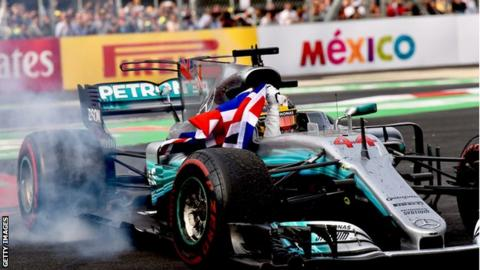 Lewis Hamilton wins his fourth world championship at the Mexican Grand Prix in 2017