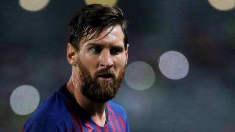 Barcelona's Lionel Messi