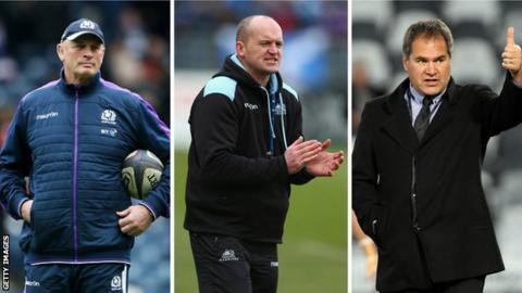 Vern Cotter, Gregor Townsend, Dave Rennie