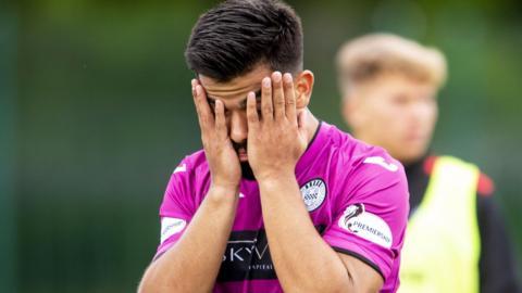 St Mirren's Oan Djorkaeff is left disappointed