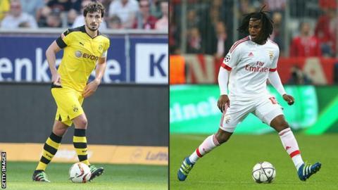 Mats Hummels and Renato Sanches