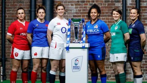 Women's Six Nations captains Siwan Lillicrap, Gaelle Hermet, Sarah Hunter, Giada Franco, Ciara Griffin and Rachel Malcolm
