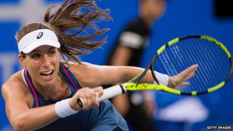 Muguruza wins in first round of Wuhan Open; Ostapenko loses