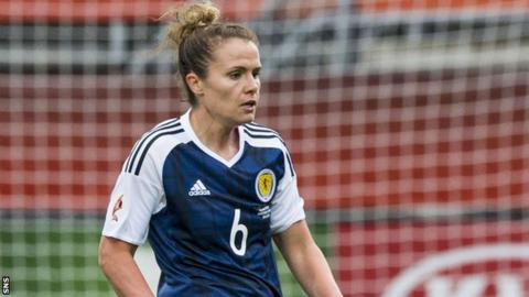 Jo Love in action for Scotland