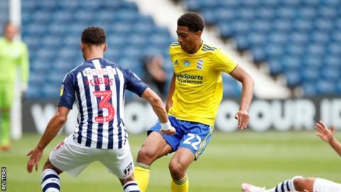 Jude Bellingham in action for Birmingham City