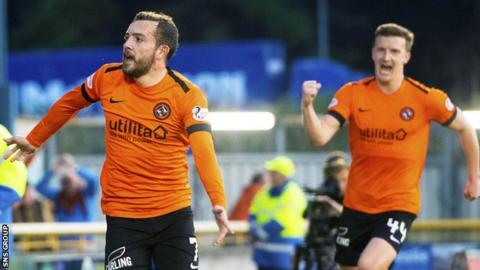 Dundee United take a 1-0 lead into the second leg of the semi-final at Tannadice