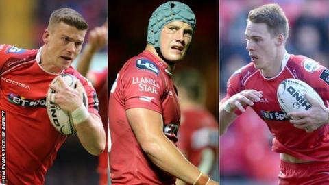 Scott Williams, Jonathan Davies and Liam Williams
