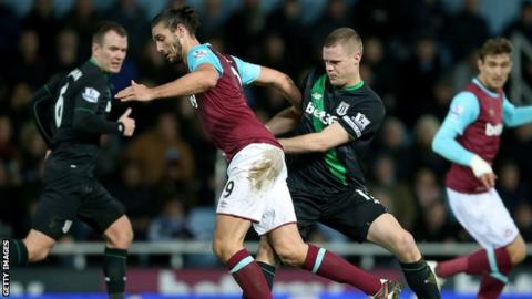 Andy Carroll and Ryan Shawcross