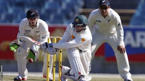 Usman Khawaja playing for an Australia Cricket XI against New Zealand
