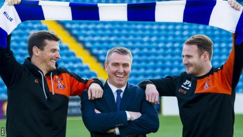 Kilmarnock's Lee McCulloch, Lee Clark and Peter Leven