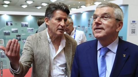 Lord Coe and Thomas Bach, President of the International Olympic Committee