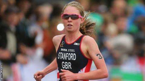 Non Stanford crowned world triathlon champion | Daily Mail Online