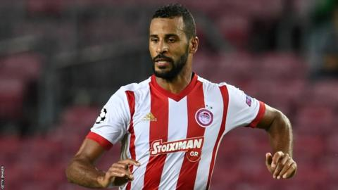 Togo's Alaixys Romao in action for Olympiakos