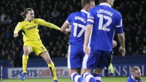 Jackson Irvine scores Burton's first-half equaliser