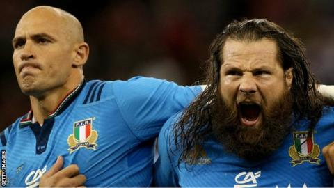Sergio Parisse and Martin Castrogiovanni