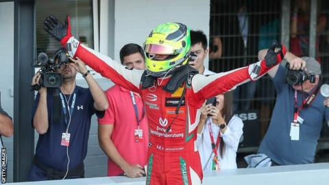 'He has Michael's racing genes':Schumacher Jr lifts F3 title