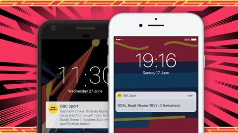 BBC Sport app features