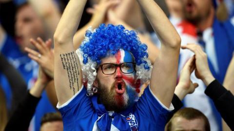 Icelandic football fan