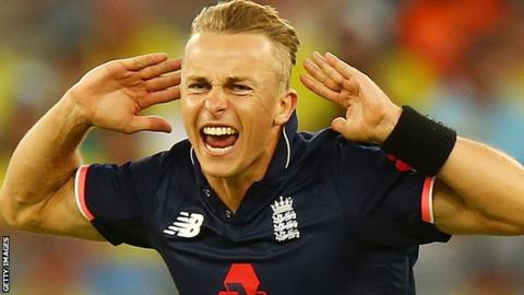 Tom Curran celebrates in Perth