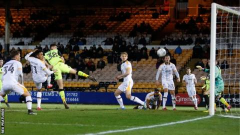 Jordan Storey scores Exeter's goal