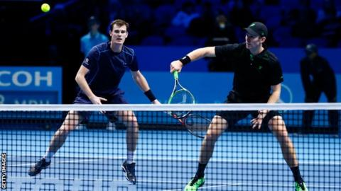 Jamie Murray and John Peers at the ATP World Tour Finals in 2015