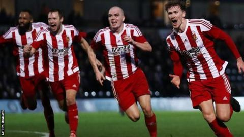 Dan Scarr (right) scored Stourbridge's equaliser in their 2-1 FA Cup third round defeat at Wycombe