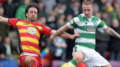 Partick Thistle against Celtic