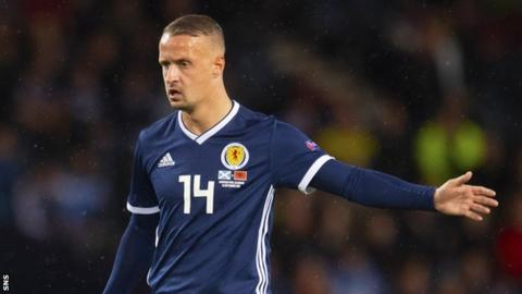 Leigh Griffiths in action for Scotland against Albania