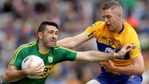 Kerry's Bryan Sheehan is challenged by Clare's Enda Coughlan in last weekend's All-Ireland quarter-final