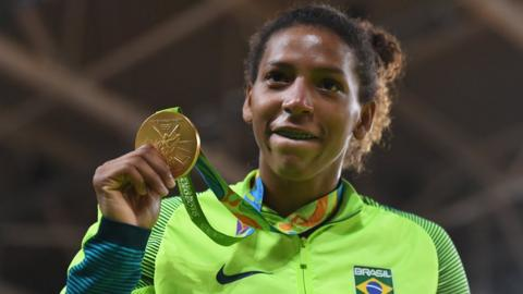 Rio 2016: Brazil's first gold from the City of God favela