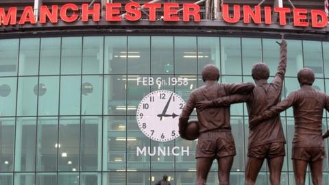 There were reminders all around Old Trafford about the Munich air disaster