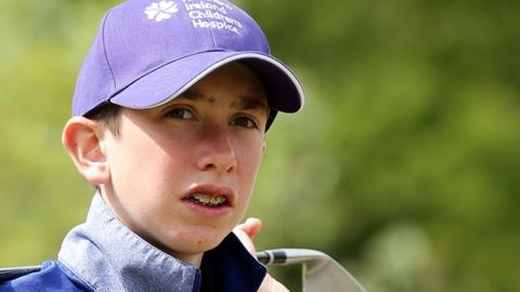 Thirteen-year-old Tom McKibbin was invited to play in his first professional tournament