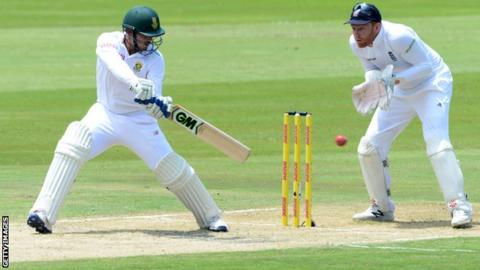Quinton de Kock during his maiden century