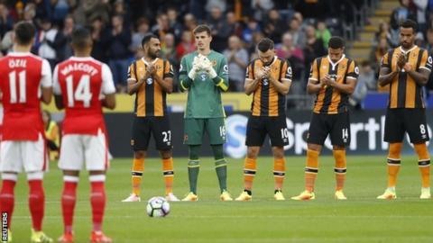Hull City minute's silence Daniel Wilkinson