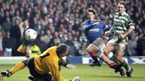 Brian Laudrup is idolised by Rangers fans after helping them equal Celtic's record of nine titles in a row