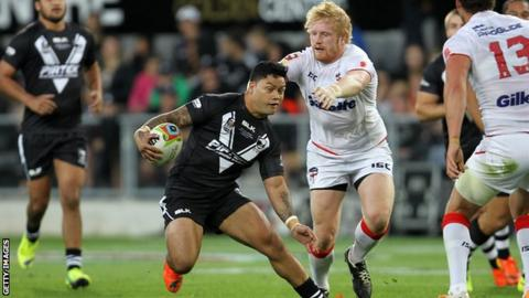 England's James Graham versus New Zealand
