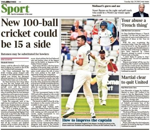 Times back page