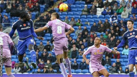 Kenwyne Jones scores for Cardiff City