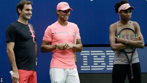 Roger Federer, Rafael Nadal and Venus Williams