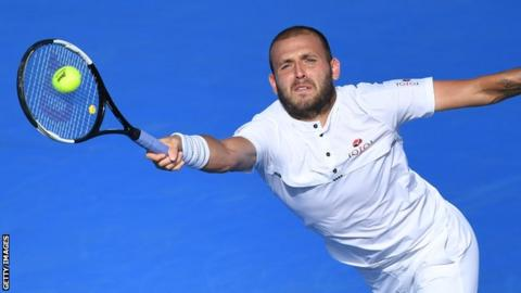 Albot makes ATP history for Moldova in US