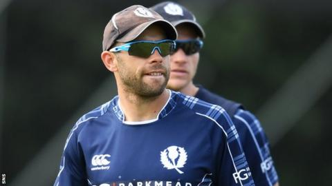 Scotland captain Kyle Coetzer