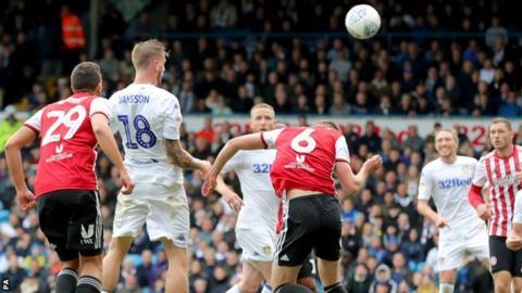 Pontus Jansson scores for Leeds