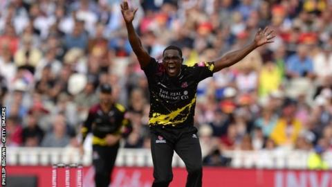 Jerome Taylor has previously had spells in England with Leicestershire and Sussex and most recently T20 contracts for the last two seasons with Somerset