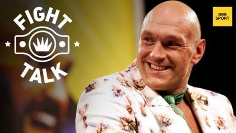 New WBC heavyweight champion Tyson Fury looking happy after beating Deontay Wilder in Las Vegas