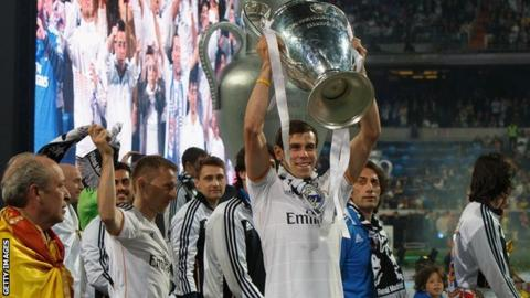 Gareth Bale of Real Madrid during the 2014 Champions League final