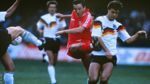 1989: Wales held West Germany to a goalless draw in their first ever game at Cardiff's old National Stadium. But it was a dismal World Cup campaign for Terry Yorath's side as they finished bottom of their qualifying group.