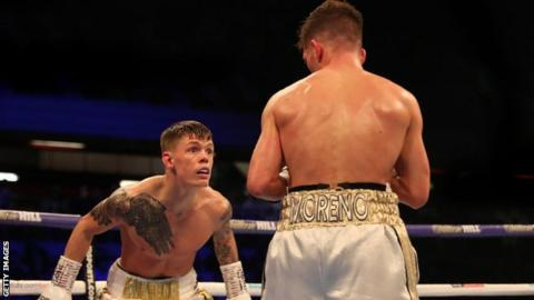 Edwards (left) angered his corner by showboating in the fourth round