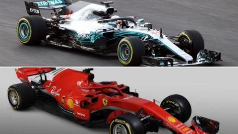 Ferrari and Mercedes